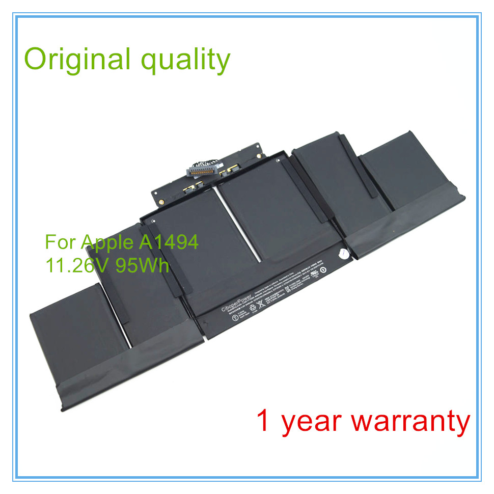 New Original A1494 Laptop Battery for Pro 15'' inch A1398 (2013 year) ME293 ME294 11.26V 95WH 8440MAH new original xs7c1a1dbm8 xs7c1a1dbm8c warranty for two year