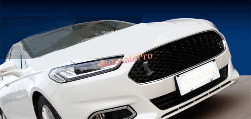 Racing style Black Front Grille Grill Honeycomb Mesh Cover for Ford Fusion / Mondeo 2013 2014 2015