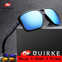 Quirke Sunglasses Men Polarized Oversized Women Driving Sun Glasses Square Big Frame  Luxury Brand Sports Eye