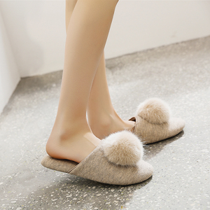 Image 4 - GKTINOO Spring Summer Women Home Slippers For Indoor Bedroom House Soft Bottom Cotton Warm Shoes Adult Guests Flats