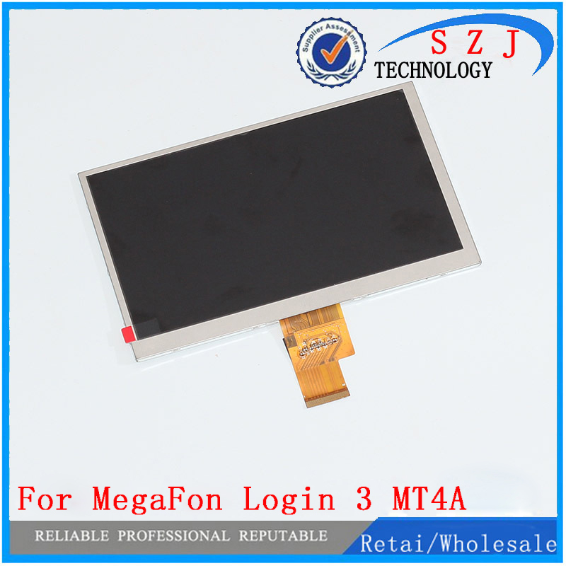 New 7'' inch LCD Display Matrix MegaFon Login 3 III MT4A login3 LCD Screen Panel Lens Frame replacement Free Shipping original 7 inch 163 97mm hd 1024 600 lcd for cube u25gt tablet pc lcd screen display panel glass free shipping