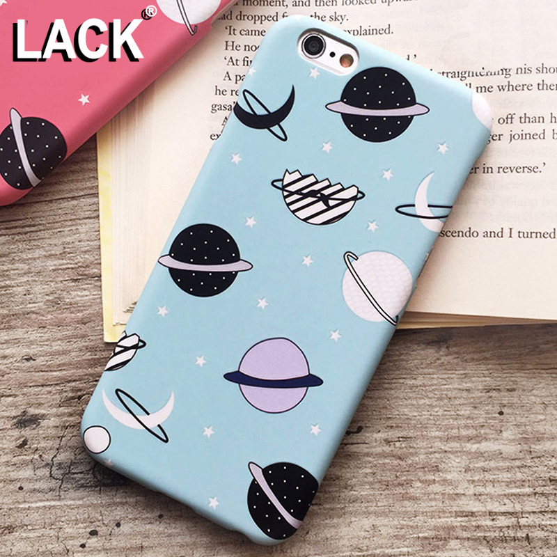 LACK Cartoon Airship Stars Frosted Case For iphone 6 Case For iphone 6S 6 Plus Hard Cover Universe Series Phone Cases Capa