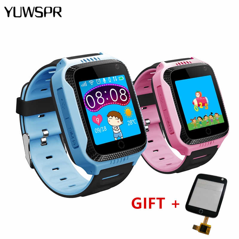kids tracker watch Q528 Y21 Flashlight Camera touch Screen1.44 GPS  Watch SOS Call Location Children's watch Q529 1pcs