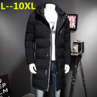 12XL 10XL 6XL 8XL 2018 Winter Men's Long Coat Exquisite Arm Pocket Men Solid Parka Warm Cuffs Design Breathable Fabric Jacket