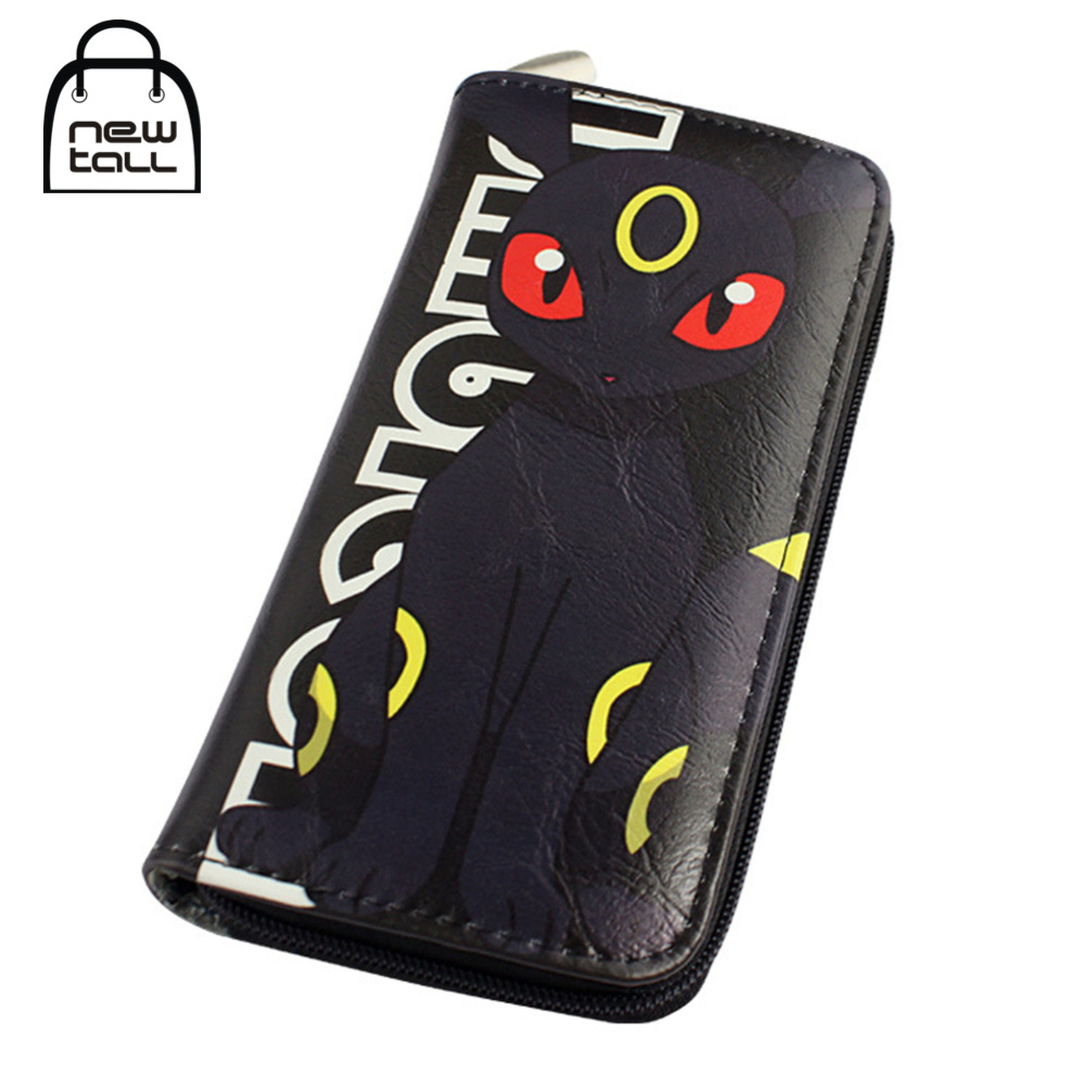 [NEWTALL] Pokemon Umbreon Japanese Anime Pocket Monster Blacky PU Leather Long Zipper Purse Card Holder Clutch Wallet T1219