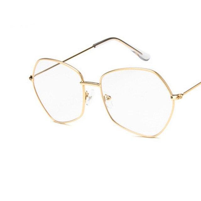 07bba59e8d Cool 2018 New Irregular Shape Glasses Fashion Brand Designer Sunglasses Men  Women Transparent Sun Glasses Oversized
