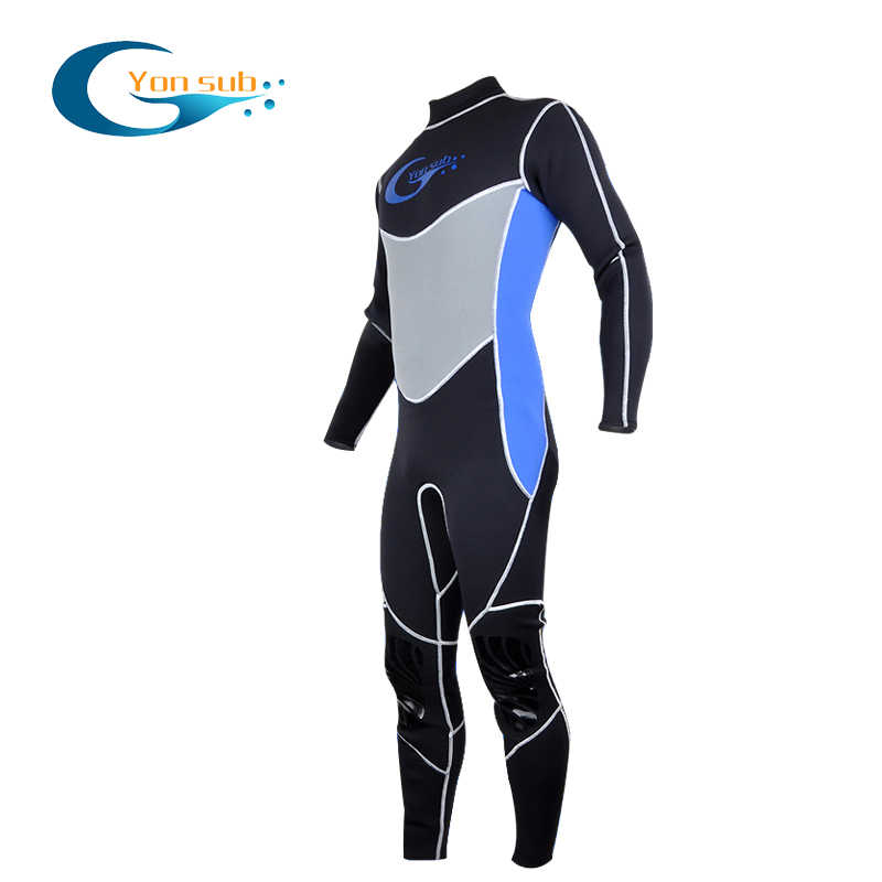 Yonsub 3 Mm Neoprene Scuba Diving Wetsuit Surfing Spearfishing Satu Potong dan Dekat dengan Tubuh Menyelam Cocok untuk Pria berburu Bawah Air