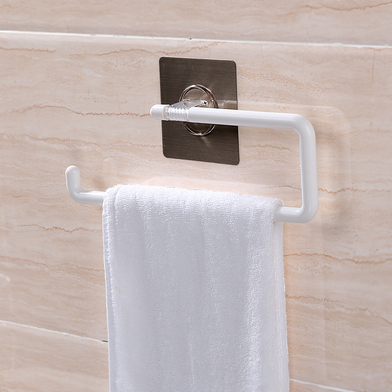 050 Multi-functional No mark towel rack paper 30.6*9.4*19cm