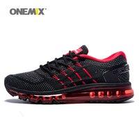 ONEMIX Air Women Running Shoes for Men Mesh Unique Shoe Tongue Athletic Trainers Black Breathable Sports Shoe Cushion Sneakers 8