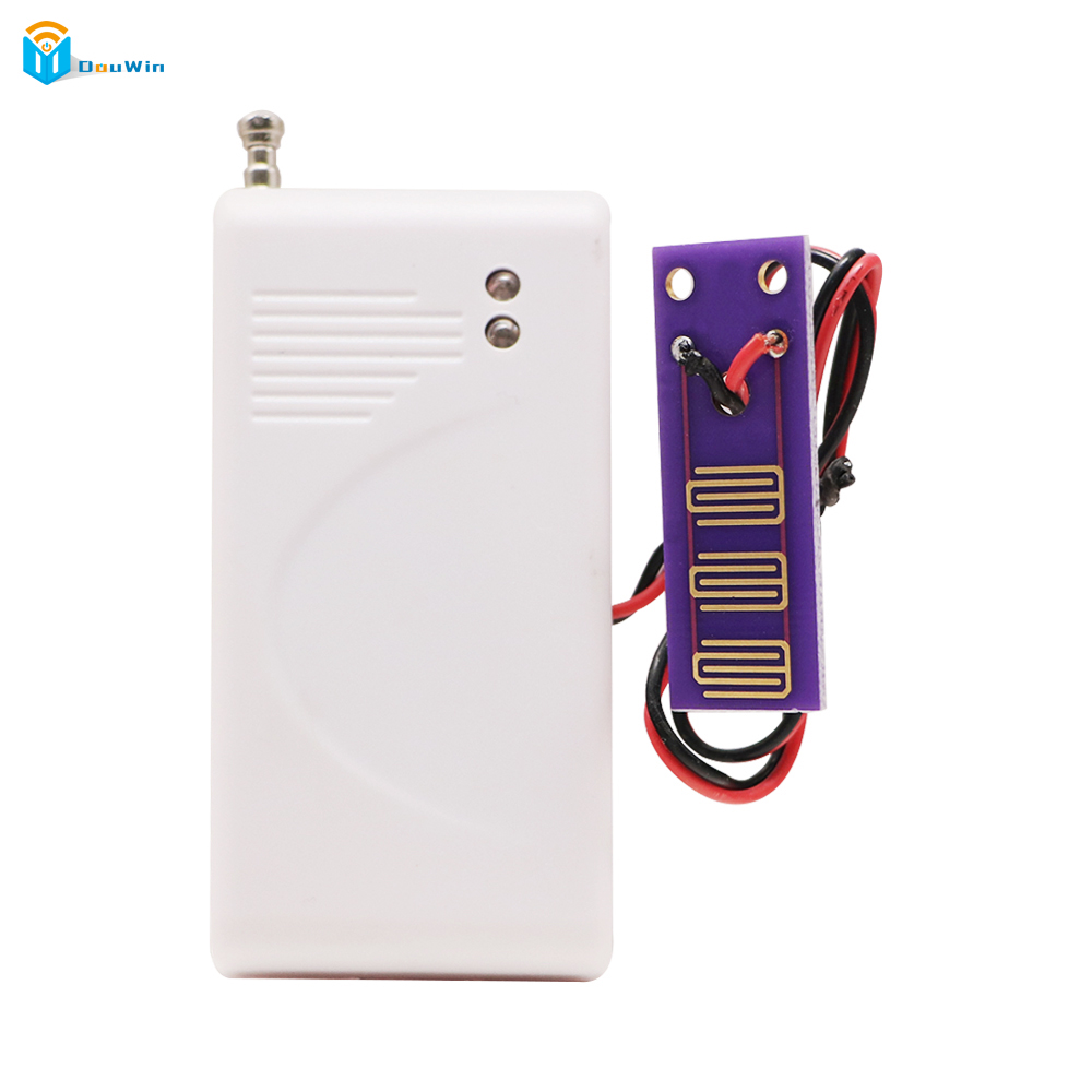 Water Leak Detector 433MHz Wireless Intrusion Work With GSM PSTN SMS Home House Security for Alarm System Water Leak Sensor russia ukrain romania water leak detector home alarm equipment and auto water shut off system with 1pc 1 2 valve dn15