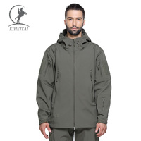 KIHEITAI Green Tactical Jackets Softshell Waterpoof Clothes Military Jacket Men Thermal Coats Windproof Army Clothing Winter