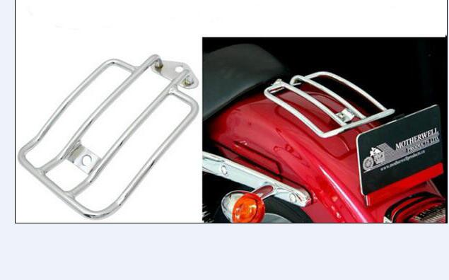Motorcycle Solo Seat Luggage Rack suitable for Harley Davidson Sportster XL883 1200 XL48 -- Silver motorcycle solo seat luggage rack suitable for harley davidson sportster xl883 1200 xl48 silver