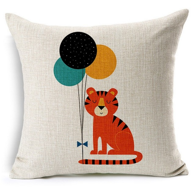 Red Tiger Colorful Ballute Cute Pets Pillows Emoji Euro Home Decor Pillow  Environment Enhance Gift Warm