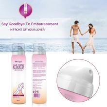 Crema de eliminación de vello indolora, Spray de cera de burbujas depilatoria, eliminador de vello de Bikini corporal, Mousse de espuma en botella de Spray