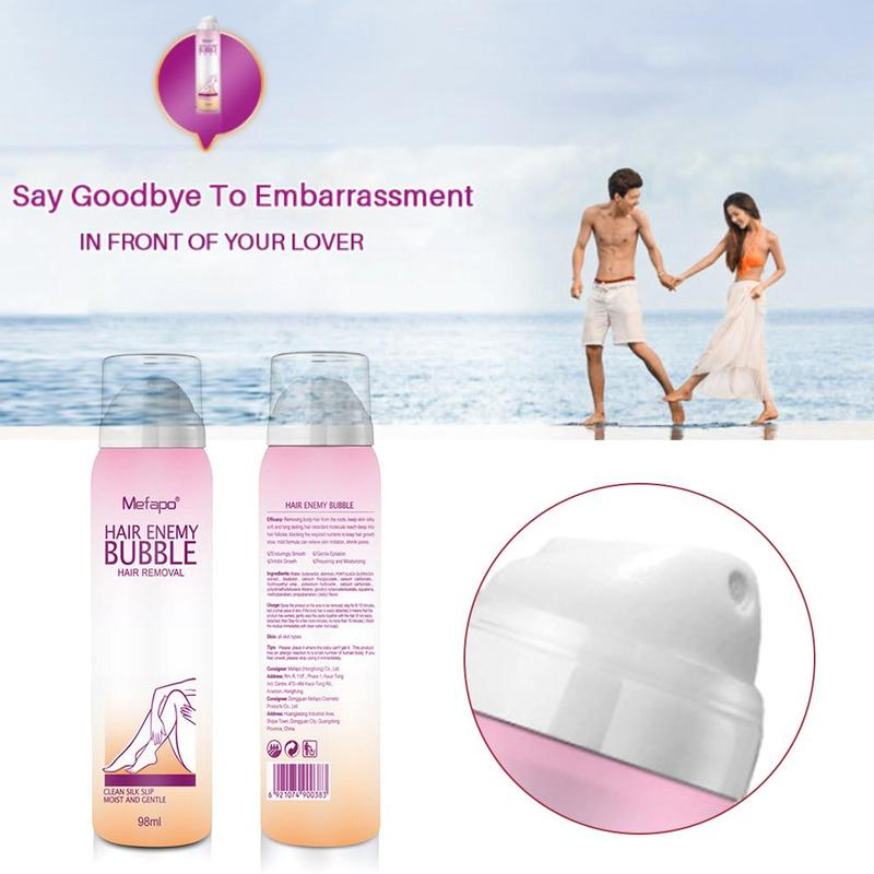 Painless Hair Removal Cream Spray Away Depilatory Bubble Wax Body Bikini Legs Hair Remover Foam Mousse in Spray Bottle Dropship image