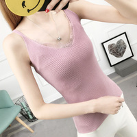 Summer Autumn Girl Women S Tank Tops Vest Slim Solid Knitted Sweater Sex Cami For Female