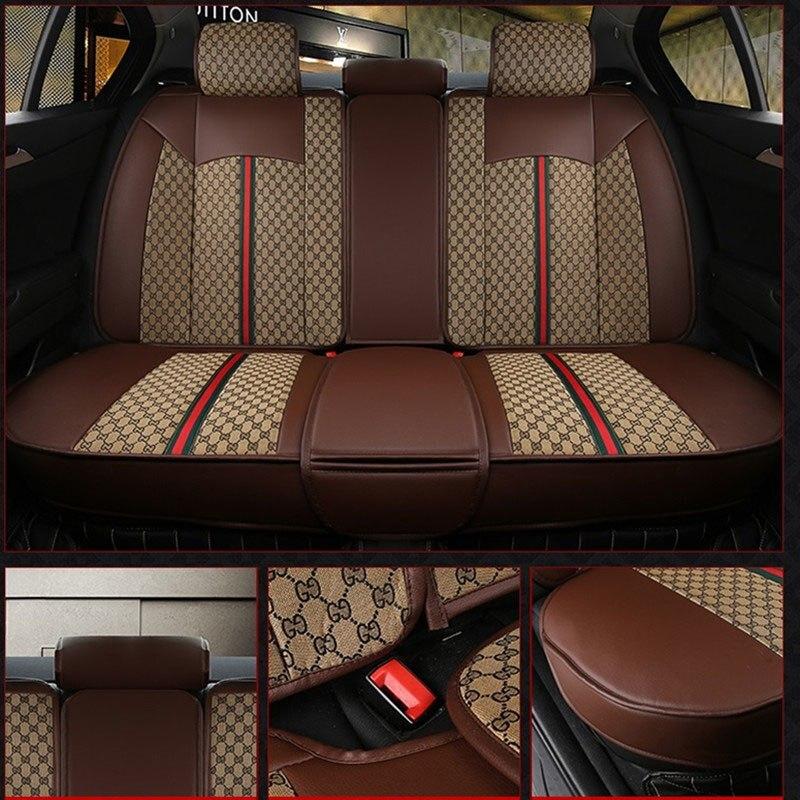 Luxury Car Seat Cover Covers protector Universal auto cushion for chevrolet xl niva 4x4 epica lacetti lanos malibu optra orlando in Automobiles Seat Covers from Automobiles Motorcycles
