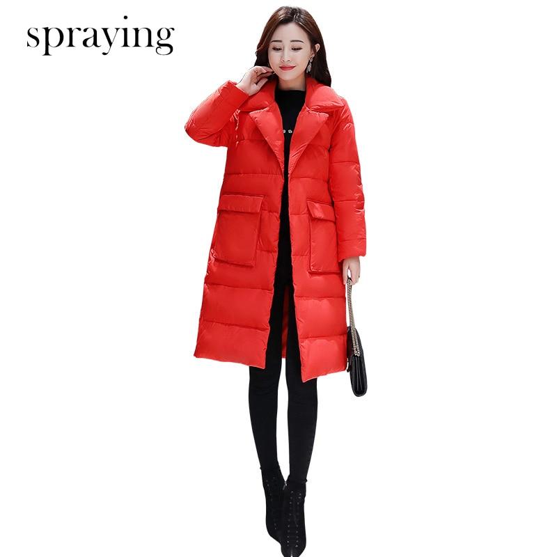 New Korean version Office lady slim Fashion cotton Parka women Elegant top quality jacket Female parka