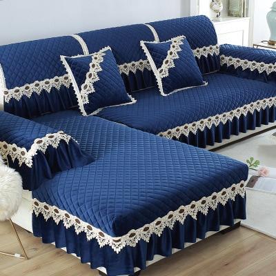 Cushion Fabric Plush Sofa European Winter Non-Slip Universal Household