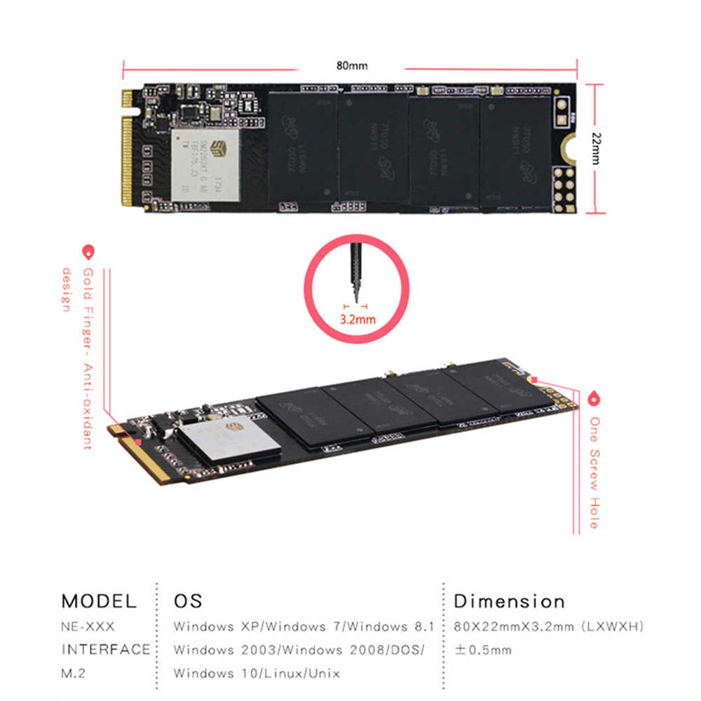 SSD M.2 NVME Pcie 480GB 2280 HDD 3D NAND NGFF high-speed Solid-State Drive 120GB-960GB for Laptop and Desktop Reeinno brand