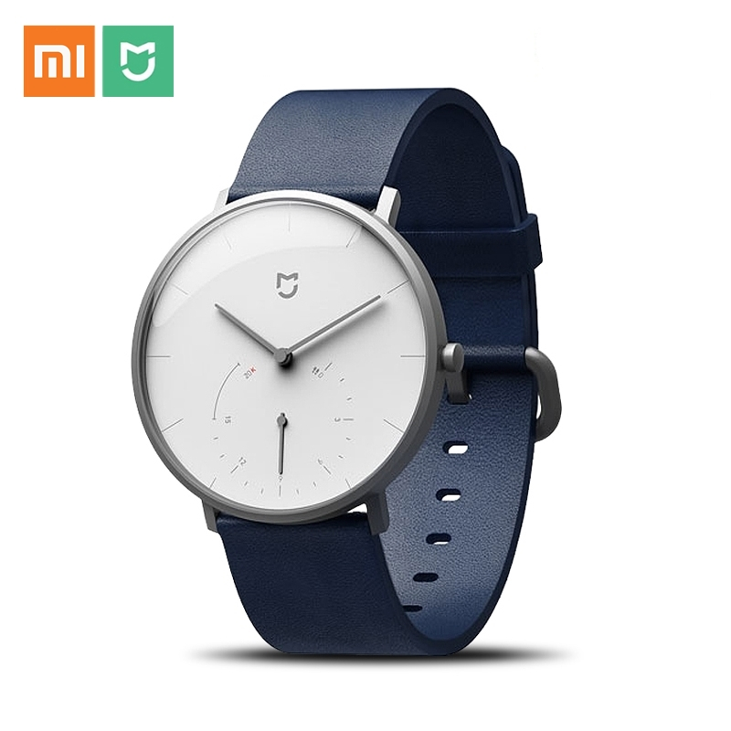 Original Xiaomi Mijia Smart Quartz Watch 3ATM Waterproof Pedometer Bluetooth 4.0 Mi Band 316L Steel Smartwatch Alarm SYNC Time