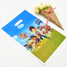 10pcs Pet Patrol Gift Dag Candy/Loot Bag Cartoon Theme Party Festival&Event Patrol Birthday Decoration Favor Party Supplies 01