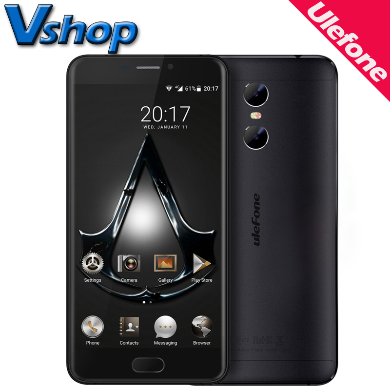 Original Ulefone Gemini 4G Mobile Phone Android 6.0 3GB RAM 32GB ROM Quad Core Smartphone 1080P 3 Camera 5.5 inch Cell Phone