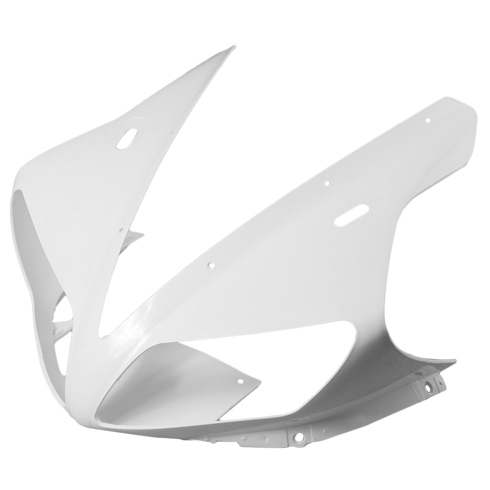For Yamaha YZF R1 Upper Front Nose Fairing Cowl 2002 2003 Motorbike Part Accessories Injection Mold ABS Plastic Unpainted White upper front cover cowl nose fairing for kawasaki ninja zx6r 2012 2013 injection mold abs plastic unpainted