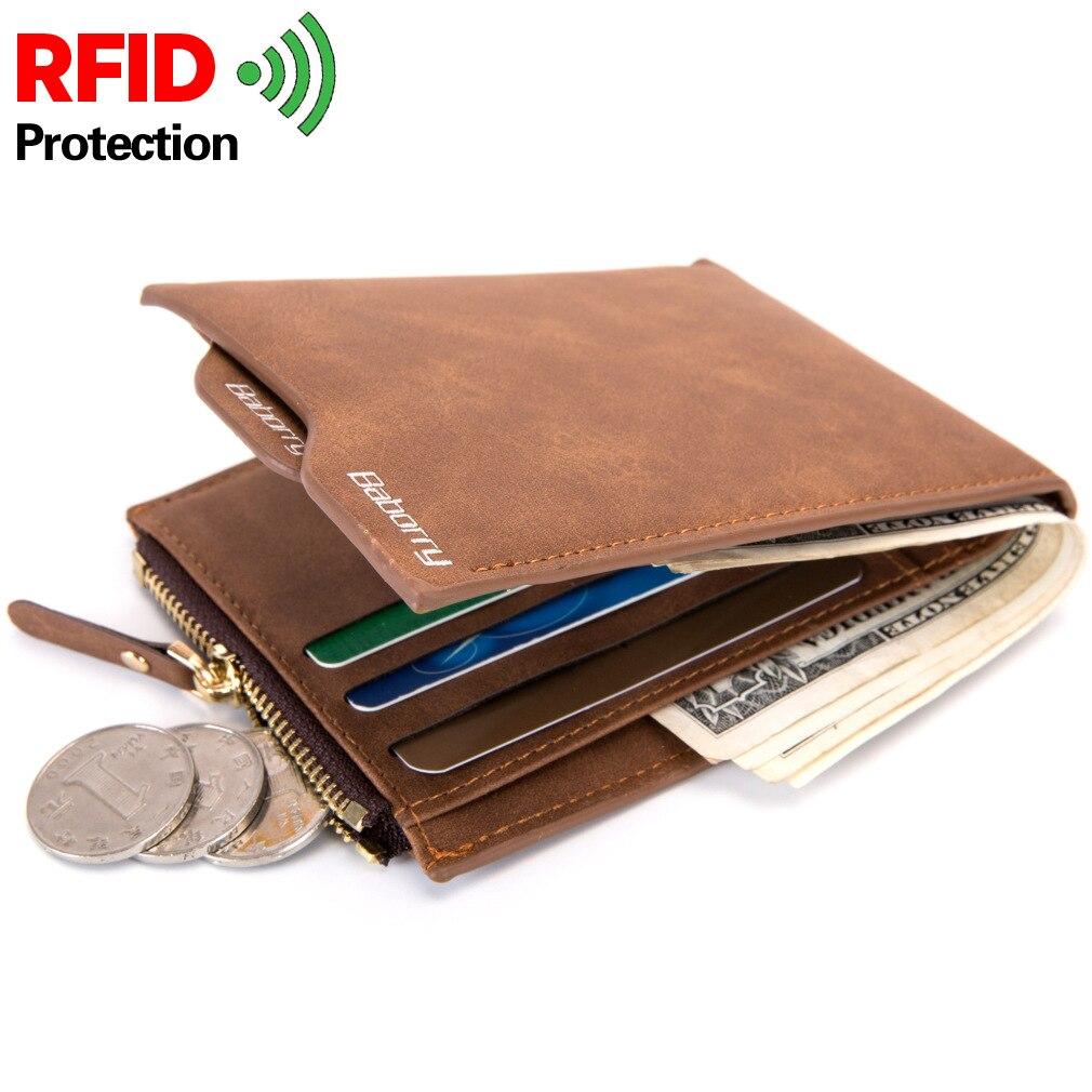 Anti RFID Wallet Vintage Men Business Card Holder Wallet Men and Women Bank Credit Card Case ID Holders Long Men Purse