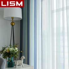 Striped Tulle Sheer Window Curtains For Living Room Bedroom Kitchen Modern Fabric Voile Drapes LISM
