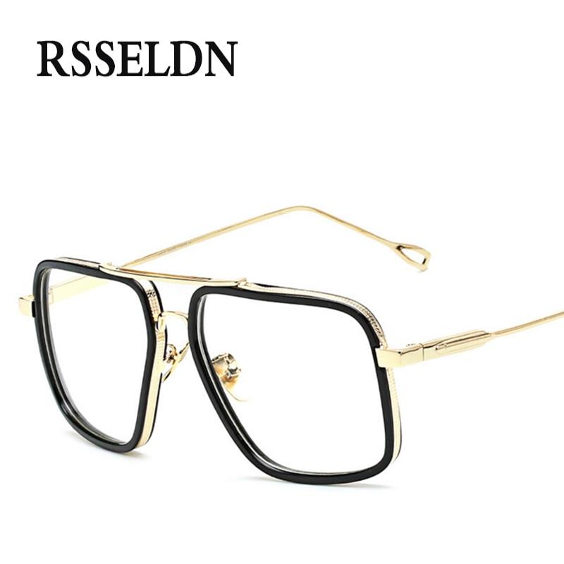 0ce11fd892a23 RSSELDN Novo Muito Grandes Mulheres Óculos Frames Clássico Designer de Marca  Óculos de Armação Homens UV400 Lunettes Vintage Da Moda
