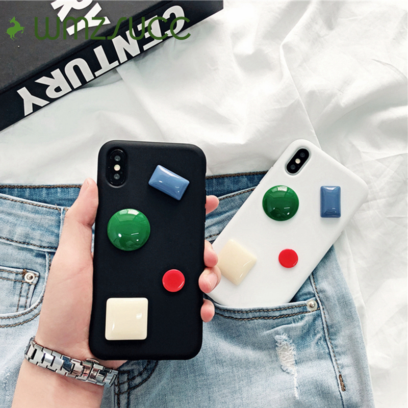 WMZSUCC 3D Xylitol Candy Soft Phone Case for iPhone X 8 7 Back Cover for iPhone 6 6s Plus Wholesale Drop Shopping