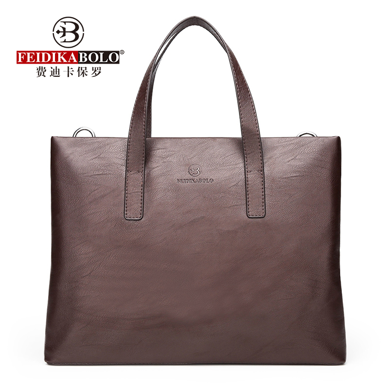 Cross Section Fashion Solid Color Business Handbag New Large-Capacity Computer Bag Wild Casual Shoulder Messenger Bag