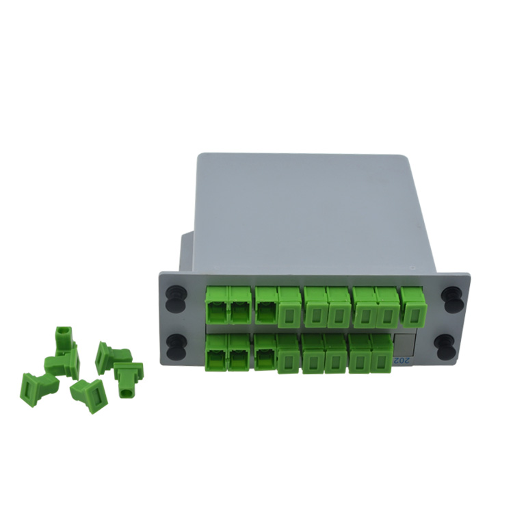 SCAPC PLC 1X16 boîte de répartiteur de Fiber optique FTTH boîte de répartiteur de PLC avec 1X16 type de guide d'ondes planaire séparateur optique livraison gratuite