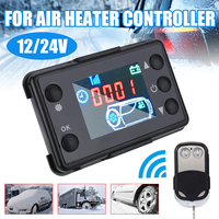 New 12V/24V LCD Monitor Switch + Remote Control Accessories Universal Car Track Air Heater Controller Parking Heater