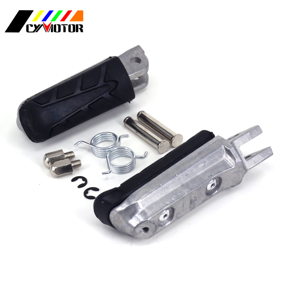 Motorcycle Front Footrest Foot Pegs For HONDA XL CB VT VTR NT CBF CBR NTV VFR 125 250 400 500 600 650 750 800 900 1000 1100 1300