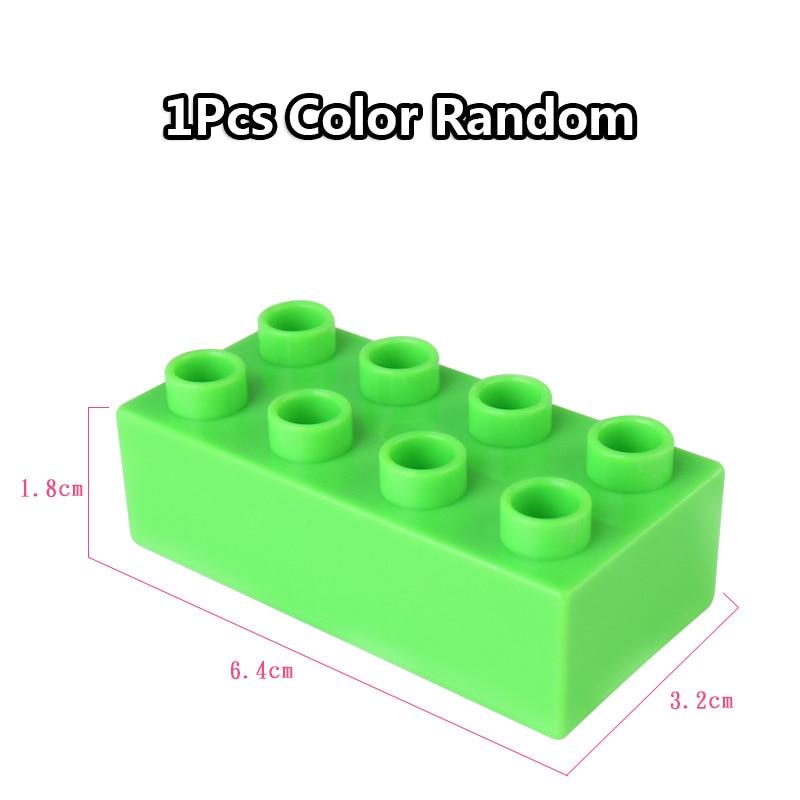 Big Size Duploe Train Building Blocks Bricks Accessory Compatible With Duplos base plate Transparent Square Toys for Children (5)