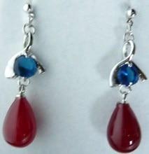 pendientes long sterling silver jewelry earring Good Malay Green Jade 925 Sterling Silver Stud Earrings
