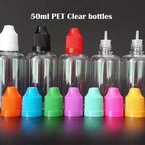 Image 5 - 100 Stuks Lege E Vloeibare Flessen 3Ml 5Ml 10Ml 15Ml 20Ml 30Ml 50Ml huisdier Plastic Druppelflesje Met Kind Proof Caps Voor Nail Gel