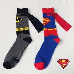 1 пар/лот Для мужчин Носки Бэтмен Личность Руководство плащ в носки без пятки для Для Мужчин Мультфильм Повседневные носки Для мужчин Harajuku