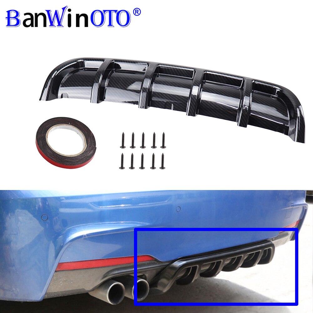 การปรับเปลี่ยนรถ Spoiler Universal แชสซี Fin SHARK Fin ดัดใส่ด้านหลังกันชน Diffuser วัสดุ ABS คุณภาพสูง BANWINOTO