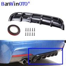 자동차 수정 유니버설 스포일러 섀시 핀 상어 지느러미 벤딩 인서트 리어 범퍼 디퓨저 고품질 ABS 소재 BANWINOTO