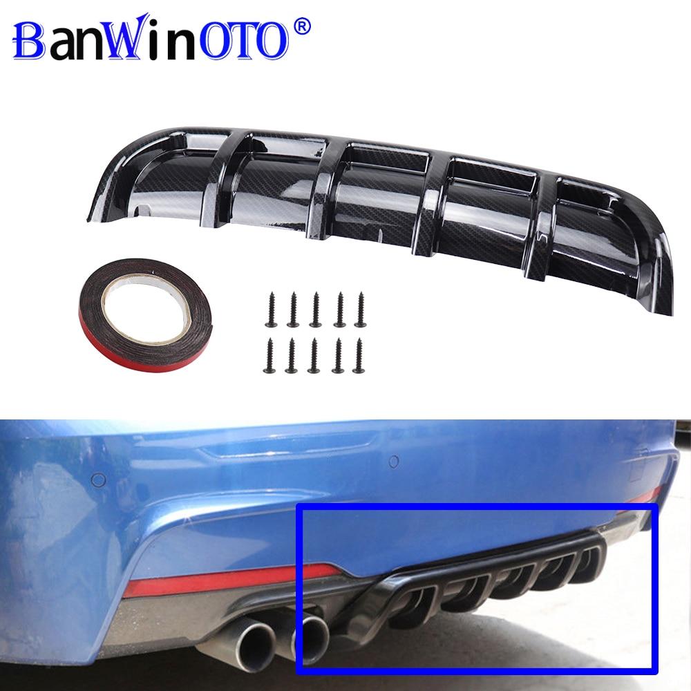 Modificación del coche alerón Universal chasis aleta tiburón doblado inserto parachoques trasero difusor ABS de alta calidad Material BANWINOTO