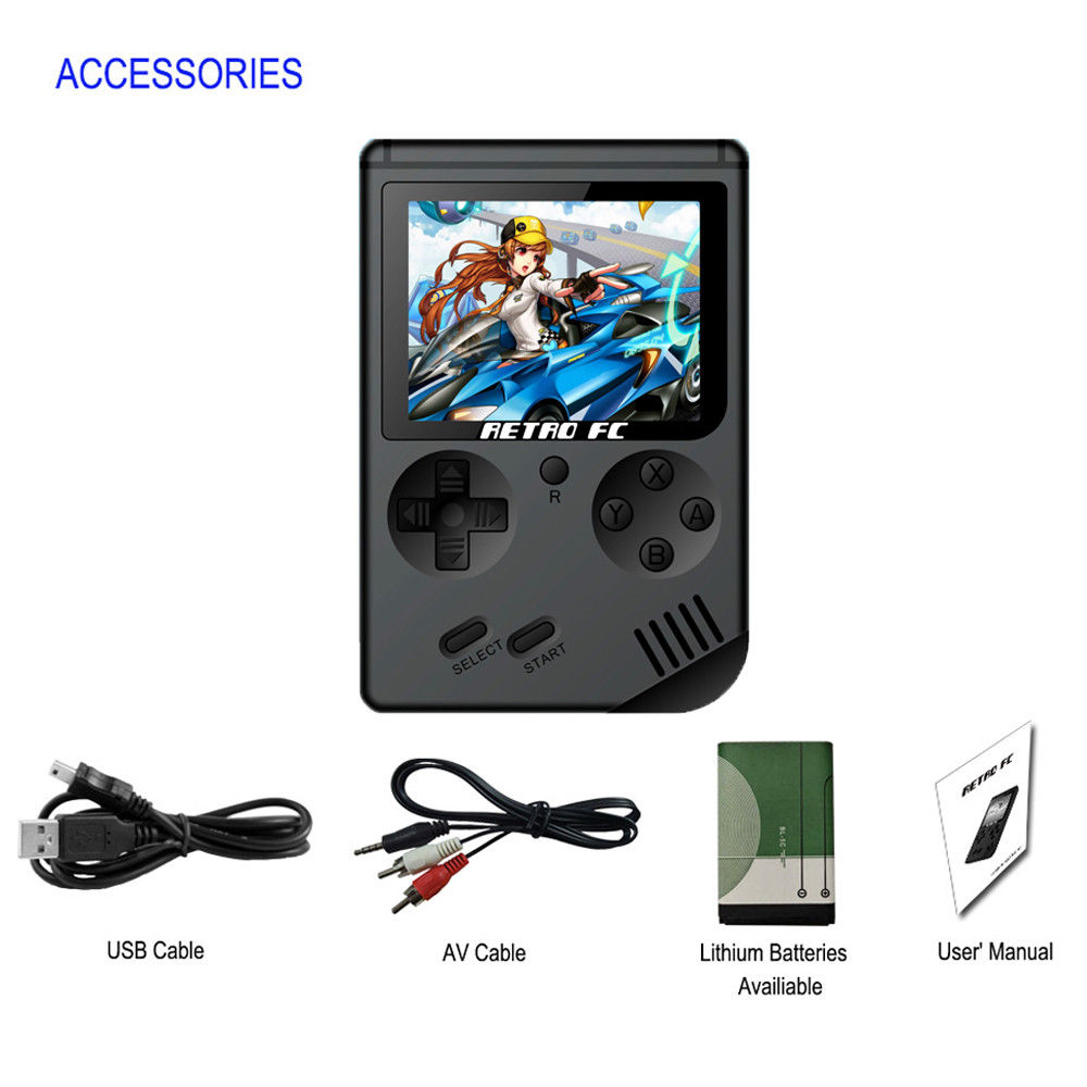 Coolbaby RS-6A Retro Portable Mini Handheld Video Game Console Gameboy 8-Bit LCD Kids Color TV Game Player Built-in 168 Games 1