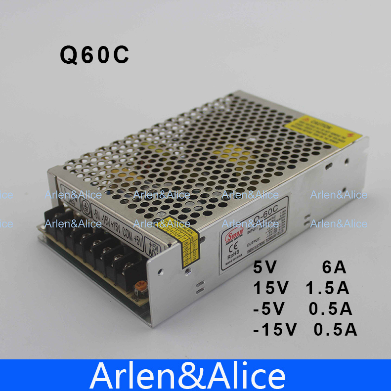 60W Quad output 5V 15V -5 -15v Switching power supply AC to DC