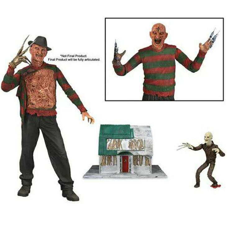 NECA a Nightmare on Elm Street 3 Freddy Krueger Freddys Nightmares Figure Collection Toys 20cmNECA a Nightmare on Elm Street 3 Freddy Krueger Freddys Nightmares Figure Collection Toys 20cm