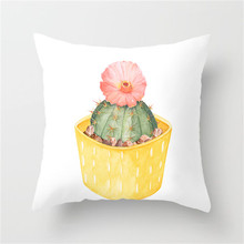 Fuwatacchi Succulent Plants Cushion Cover Cactus Potted Plant Pillowcase Home Decor Sofa Chair Car Soft Throw Pillow Covers