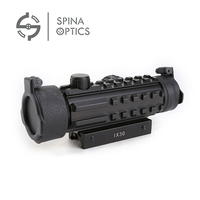 SPINA OPTICS Tactical Red Dot Sight 1X30 Optic Scope Sight Riflescope sight for Airsoft Rifle Shotguns