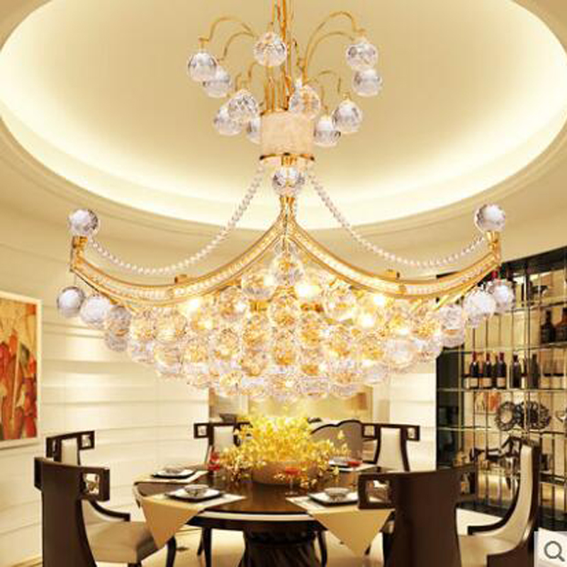 купить Modern golden chandelier round living room lamp personalized dining chandelier restaurant lamps bedroom stairs lighting fixture онлайн