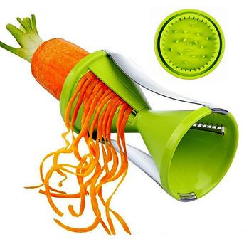 Kreatywny lejek spiralizer kuchnia małe narzędzie ostrzałka do strugarki tanie i dobre opinie NoEnName_Null Ekologiczne Lfgb Ce ue Metal STAINLESS STEEL Zestawy narzędzi do gotowania green